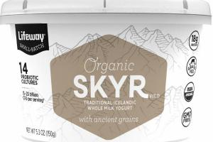ORGANIC SKYR TRADITIONAL ICELANDIC WHOLE MILK YOGURT WITH ANCIENT GRAINS