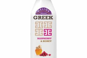 RASPBERRY & HONEY ORGANIC GREEK CULTURED NONFAT KEFIR MILK SMOOTHIE