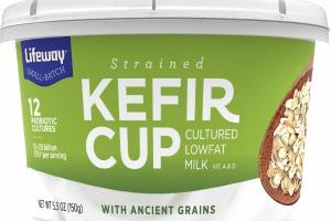 STRAINED KEFIR CUP CULTURED LOWFAT MILK VIT. A & D WITH ANCIENT GRAINS