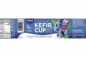 STRAINED KEFIR CUP CULTURED LOWFAT MILK WITH BLUEBERRY LAVENDER