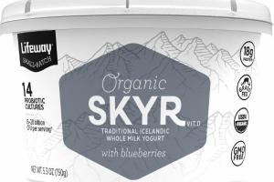 ORGANIC SKYR VIT.D TRADITIONAL ICELANDIC WHOLE MILK YOGURT WITH BLUEBERRIES