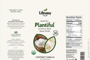 COCONUT VANILLA DAIRY FREE PROBIOTIC PLANT BASED DRINK