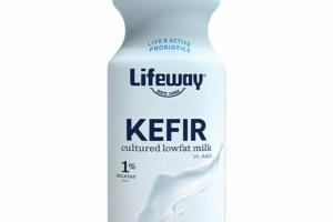 PLAIN UNSWEETENED KEFIR CULTURED LOWFAT MILK