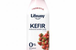 STRAWBERRY KEFIR PROBIOTIC CULTURED NONFAT MILK