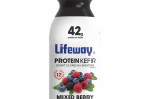 MIXED BERRY PROTEIN KEFIR LOWFAT CULTURED MILK SMOOTHIE