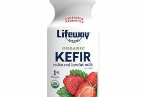 STRAWBERRY KEFIR CULTURED LOWFAT MILK