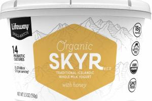 ORGANIC SKYR TRADITIONAL ICELANDIC WHOLE MILK YOGURT WITH HONEY
