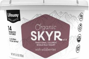 SKYR TRADITIONAL ICELANDIC WHOLE MILK YOGURT WITH WILDBERRIES