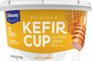 KEFIR CUP CULTURED LOWFAT MILK WITH HONEY