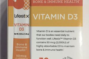Bone & Immune Health Vitamin D3 Dietary Supplement