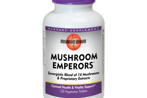 MUSHROOM EMPERORS SUPPORTS OPTIMAL HEALTH & VITALITY DIETARY SUPPLEMENT VEGETARIAN TABLETS