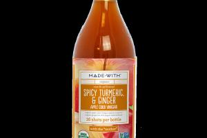 ORGANIC RAW & UNFILTERED SPICY TURMERIC, & GINGER APPLE CIDER VINEGAR