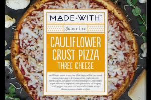 THREE CHEESE CAULIFLOWER CRUST PIZZA