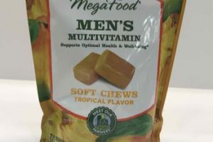 MEN'S MULTIVITAMIN SUPPORTS OPTIMAL HEALTH & WEE-BEING SOFT CHEWS MULTIVITAMIN & MINERAL DIETARY SUPPLEMENT, TROPICAL