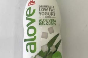 DRINKABLE LOW FAT YOGURT WITH ALOE VERA GEL CUBES