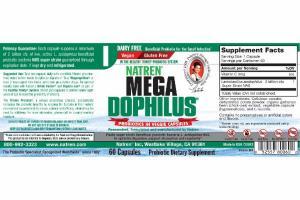 MEGA DOPHILUS PROBIOTICS IN VEGGIE DIETARY SUPPLEMENT CAPSULES