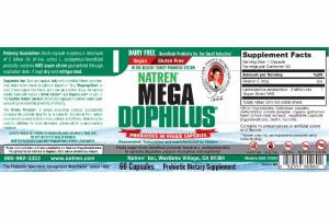 MEGA DOPHILUS PROBIOTICS IN VEGGIE DIETARY SUPPLEMENT CAPSULES
