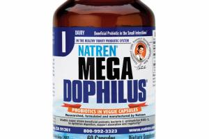 MEGA DOPHILUS PROBIOTICS IN VEGGIE CAPSULES DIETARY SUPPLEMENT