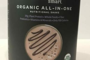 CHOCOLATE FUDGE FLAVORED ORGANIC ALL-IN-ONE NUTRITIONAL SHAKE DIETARY SUPPLEMENT