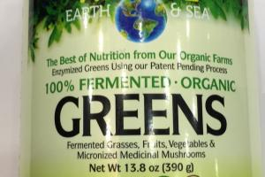 100% Fermented Unflavored Organic Greens Dietary Supplement