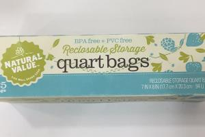 Reclosable Storage Quart Bags