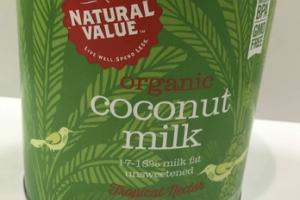 UNSWEETENED ORGANIC COCONUT MILK
