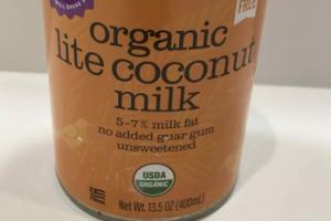 UNSWEETENED ORGANIC LITE COCONUT MILK