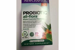 PROBIOTIC ALL-FLORA WHOLE-FOOD LIVE PROBIOTICS DIETARY SUPPLEMENT VEGETARIAN CAPSULES