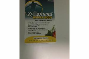 ZYFLAMEND WHOLE BODY VEGETARIAN CAPSULES DIETARY SUPPLEMENT