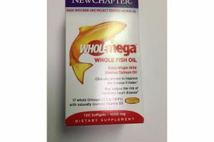 WHOLEMEGA WHOLE FISH OIL SOFTGELS DIETARY SUPPLEMENT