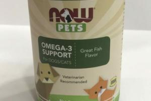 OMEGA-3 SUPPORT FOR DOGS/CATS SOFTGELS, GREAT FISH