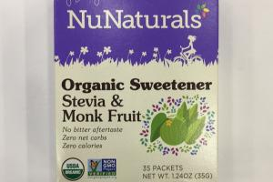 Organic Sweetener Stevia & Monk Fruit