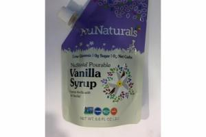 POURABLE VANILLA SYRUP