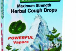 MAXIMUM STRENGTH MENTHOL COUGH SUPPRESSANT ORAL ANESTHETIC SOOTHES SORE THROATS PASTILLES HERBAL COUGH DROPS