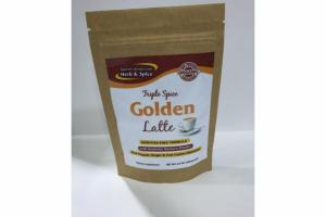 TRIPLE SPICE GOLDEN LATTE ADDITIVE-FREE FORMULA WITH AROMATIC TURMERIC POWDER PLUS ORGANIC GINGER & TRUE CEYLON CINNAMON DIETARY SUPPLEMENT