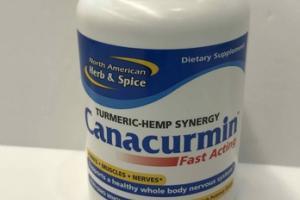 CANACURMIN TURMERIC-HEMP SYNERGY FAST ACTING DIETARY SUPPLEMENT