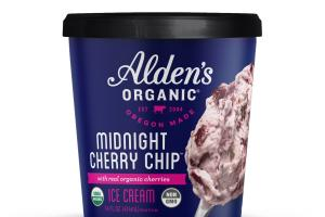 MIDNIGHT CHERRY CHIP WITH REAL ORGANIC CHERRIES ICE CREAM