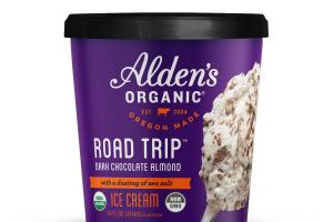 ROAD TRIP DARK CHOCOLATE ALMOND WITH A DUSTING OF SEA SALT ICE CREAM