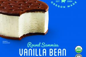 VANILLA BEAN ROUND SAMMIES ICE CREAM SANDWICH