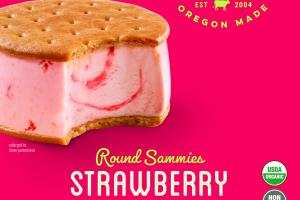 STRAWBERRY ROUND SAMMIES ICE CREAM SANDWICH