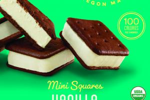 VANILLA MINI SQUARES ICE CREAM SANDWICH