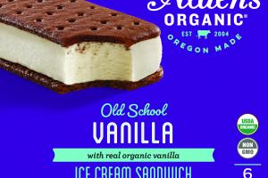 REAL ORGANIC VANILLA ICE CREAM SANDWICH