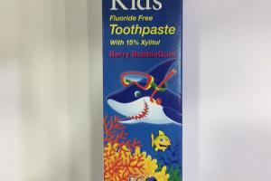 Fluoride Free Toothpaste, Berry Bubblegum