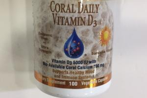 Coral Daily Vitamin D3 Dietary Supplement