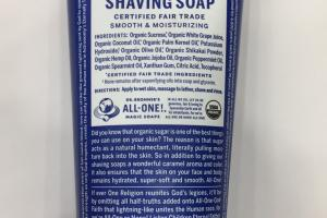 Organic Shaving Soap, Peppermint