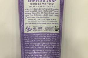 Organic Shaving Soap, Lavender