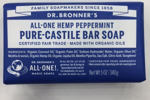 All-one Hemp Peppermint Pure-castile Bar Soap