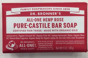 All-one Hemp Rose Pure-castile Bar Soap