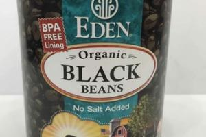 NO SALT ADDED ORGANIC BLACK BEANS