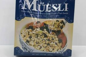 MUESLI 100% ORGANIC HOT - COLD CEREAL